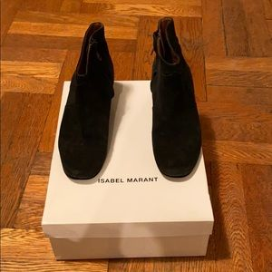 Isabel Marant Black Suede Dicker Boots 36